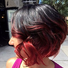 Spring Curly Peruvian Virgin Human Hair Short Peruvian Hair Extension 1B Red Two Tone Weft Hair Extensions For Women