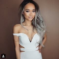 Fashion 1B Grey Ombre Human Hair Extensions Indian Remy Body Wave Hair With Grey Color Long Indian Weft hair Extension For Women