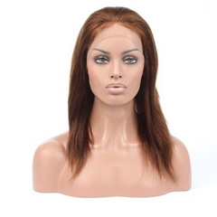 Grace Fantasy Brown Brazilian Virgin Human Hair Lace Front Wigs for Black Women Long Straight Pre Plucked Glueless Human Hair Wigs With Baby Hair And Bleached knots