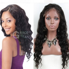 Deep curly full lace human hair wigs 100% human hair natural color full lace wigs 10inch-28inch instock fot women