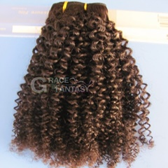 Daily Hair Products Indian Human Hair Light Brown Color Weft Hair Extension Kinky Curly Hair Style Indian Hair Extension