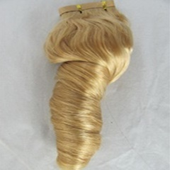 Fashion Hair Products Mongolian Virgin Ombre Hair Blonde Candy Curly Weft Human Hair Extension Short Mongolian Hair Extension For Women
