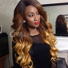 GraceFantasy 4 27 30 body wave human hair wigs lace front wigs 100%human hair Brazilian Hair Wigs Glueless for Black Women Free Part