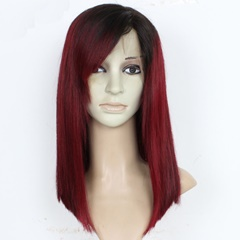 1B Red Tone Color Bob Human Hair Wigs Brazilian Silky Straight Human Hair Lace Front Wigs For Black Women 100% Unprocessed Virgin Human Hair Wig with Baby Hair