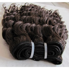 Grace Fantasy Natural Black Remy Weft Human Hair Extensions Wave Deep Wave For Black Women #4 100% Human Hair Clip ins Full Head