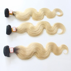 Grace Fantasy Ombre Remy Weft Human Hair Extensions Body Wave For Black Women 100% Human Hair Clip ins Two Tone Black to Blonde Full Head