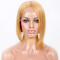 Human Hair Wigs Short Bob Lace Front Wigs Blonde Human Hair Straight Lace wig With Baby Hair Silk Straight Human Hair Lace Front Wigs For Black Women