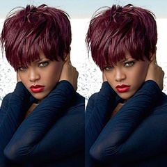 Short Bob Lace Front Wigs Human Hair Wigs 99J Natural Hair Real Hair Wig Silk Straight Human Hair Lace Front Wigs Cheap Wigs For Sale