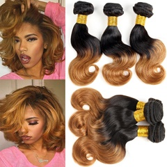 Grace Fantasy Indian Ombre Black to Blonde Body Wave 3 Bundles Remy Human Hair Body Wave Bundles 3-tone Body Weave Hair Extensions Color T1B /30