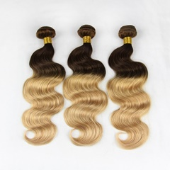 Grace Fantasy #4/27 Hair Bundles Virgin Indian Human Hair Body Wave Weft Bundles 100% Unprocessed Hair Extensions Natural Black to Blonde Color