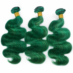 Grace Fantasy Human Hair Bundles Virgin Malaysian  Human Hair Body Wave Weft  Bundles 100% Unprocessed Hair Extensions Green Color
