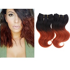 Grace Fantasy Human Hair Bundles Virgin Indian Human Hair #1B/350 Body Wave Weft  Bundles 100% Unprocessed Hair Extensions Black to 350 Ombre Color