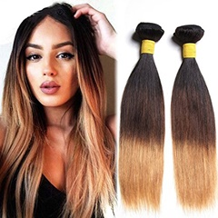 Grace Fantasy  Human Hair Silky Straight Hair Bundles Cheap Malaysian Weft  Hair 100% Human Virgin Hair Extensions 8A Grade Natural Black to Brown to Blonde Color