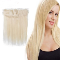 #613 Blonde Brazilian Human Hair Lace Frontals 13x4 With Baby Hair Free Part Bleached Knots Virgin Silky Straight  Lace Frontals