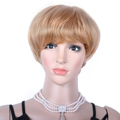 Hight Quality Grace Fantasy Lace Front Wig BOB Style Natural Wave Remy Human Hair Short Honey Blonde with Baby Hair Natural  Wave hair for Black Women