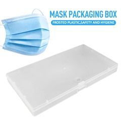 Portable Disposable Face Masks Container Dustproof Mask Case Safe Pollution-Free Disposable Mask Storage Box Storage Organizer
