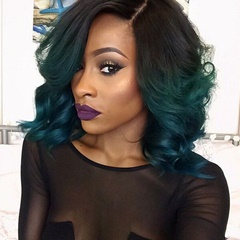 Fashinable Celebrity wig short synthetic lace front wigs bob short wigs for black women Lace Front Synthetic wigs