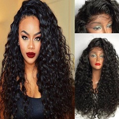 wholesale Pre Plucked Curly Synthetic Lace Front Wigs for Black Women High Quality Synthetic Lace Wigs with Baby Hair Celebrity Style Wigs Bleached knots