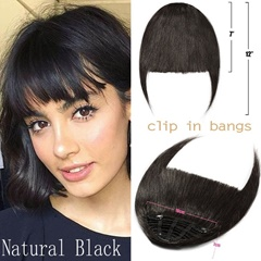 Grace Fantasy Hair 100% human hair extensions bangs with clip blonde brown black color natural looking with temple fringe hair pieces for daily wear