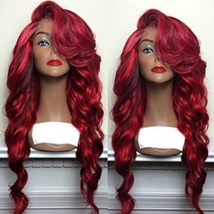 Fashion Women Synthetic Lace Front Wigs Curly Synthetic Wigs Hand Tied Fiber Hair