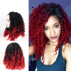 Hot sale!!! curly red lace front wig for women synthetic lace wigs for sale