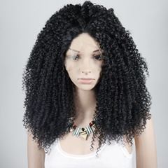 Celebrity Wig Brown Color Afro Kinky Curly Synthetic Lace Front Wig FREE Shipping