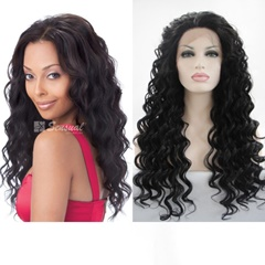 Glueless  Afro Curly Black to Blonde Synthetic Hair Lace Front Wig With Elastic Adjustable Straps and Combs Wigs