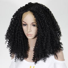 Synthetic lace front Wigs heat resistant hair off black kinky curl fiber cheap synthetic wigs for black women