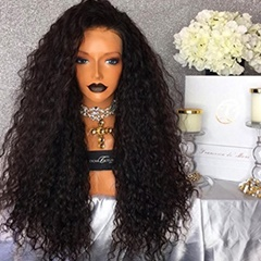 #1B 26inch Water Wave Synthetic Lace Front Wigs Wavy Synthetic Wigs for African American high quality