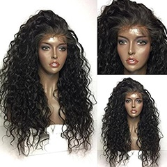Long Curly Lace Front Synthetic Hair Wigs Pre Plucked Synthetic Lace Front Wigs With Baby Hair Curly Wigs Side Part