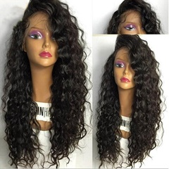 Body Wave Gray Synthetic Lace Front Wigs Ombre Black And Grey Lace Front Wigs Synthetic Hair Heat Resistant