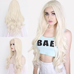 Beauty Blonde Natural Wave synthetic lace front wigs kanekalon Blonde synthetic hair lace front wigs synthetic hair heat resistant