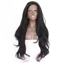 Grace Fantasy High Quality Natural Wavy Lace Front Synthetic Wigs Natural Synthetic Hair Wigs