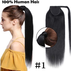 Grace Fantasy Human hair ponytail hight quality black #1/1B brown and blonde color  with   rape aroubd 12-22 inch 80g straight texture free shipping daily wear