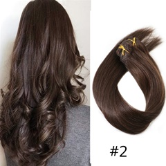 Grace Fantasy human hair clip in hair extensions with clips brown color #2 #4 #6 #8 #30 long length hight quality 70grams straight hair no tangle and no shedding for daily use