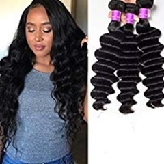 Loose wave Brazilian Remy Hair Extensions wet and wavy human hair 100g/Pc Cheap Brazilian Hair Weave