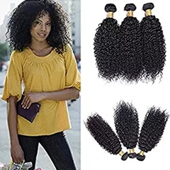 Fashionable Beyonce hairstyle Afro Kinky Curly human hair extensions 8''-30'' natural black Brazilian Kinky Curly Hair top quality