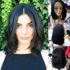 Synthetic Hair Natural Wave Short Bob Lace Wigs For Black Women Cheap Bob Haircut African American Synthetic Wavy Wigs