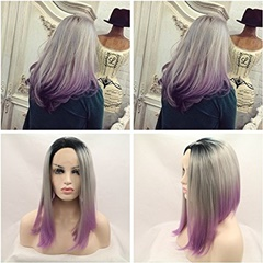 Heat Resistant Synthetic Lace Front Wigs BoB Straight Short Front Lace Wig for Women Daily Natural Looking Shoulder Length Wig Heat Resistant Middle Parting Wig