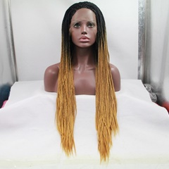 Amazing Black to Blonde braided lace wigs Synthetic hair for braiding Synthetic jumbo braid wigs for African American 26inch