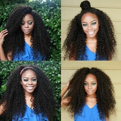 Fashionable High Quality Afro kinky curly Synthetic lace front wigs for African Americans  heat resistant Lace Front synthetic curly wigs