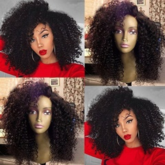 """High Quality Afro Kinky Curly Synthetic Lace Front Wigs for African Americans Pre Plucked Curly Lace Wigs Black Hair Synthetic Wigs for Sale High Temperature Fiber Hair Average Cap 22-22.5"""""""