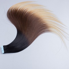 New arrival!!!High quality ombre tape hair extensions #1B/#4#27 skin weft hair extensions tape in human hair extensions