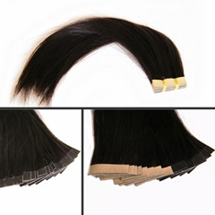 High Quality Tape Hair Extensions Brazilian Virgin Straight PU Skin Weft Tape In Human Hair Extensions