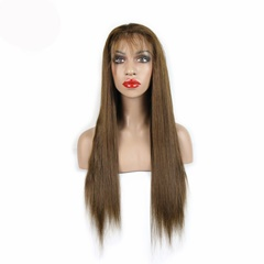 7A Glueless Full Lace Human Hair Wigs Brazilian Virgin Hair Long straight Lace Front Wigs 8-26inch Grace Fantasy Hair Wigs