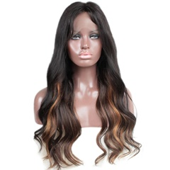 GraceFantasy 1B/33/30# Highlights Color Glueless Lace Front Human Hair Wigs with Baby Hair Pre-Plucked Hairline Full lace Wig remy