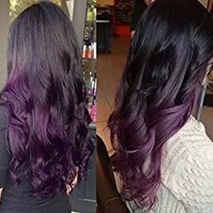 GraceFantasy 1B purple Color Glueless Full Lace Human Hair Wigs with Baby body wave Hair Pre-Plucked Hairline Full lace Wig