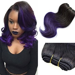 1B purple color Ombre Two Tone Body Wave Hair Weft Short Wave Mongolian Hair Bundles ombre Weft hair extensions Human Hair Extensions