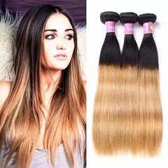 Grace Fantasy 100% Unprocessed Cheap Wholesale Indian Hair Weave Virgin Human Hair Extensions 1B 27 color Weft Hair Extensions Long Silky Straight Human Hair