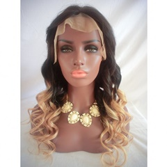 Grace Fantasy Blavk to Blonde Honey Blonde Human Hair Lace Frontal Wigs Ombre 1B 27 360 Lace Wigs Loose Wave Wigs For Black Women